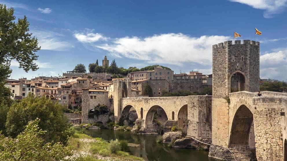 Catalonia Spain Girona Bridge