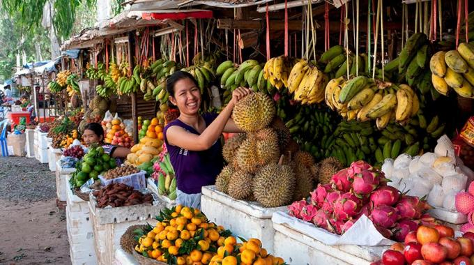 Cambodian Fruit Vendor