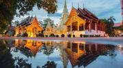 Temple in the evening, Chiang Mai, Thailand