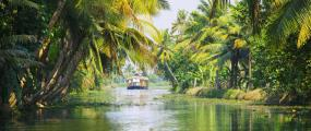 Houseboat on the Kerala backwaters, Kochi, India