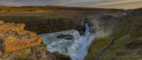 gulfoss, iceland, hero