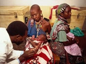 Immunization clinic in Kenya